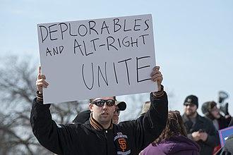 Alt-right - Image: Donald Trump alt right supporter (32452974604)