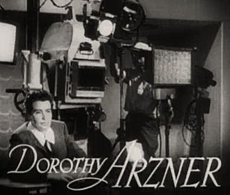 Film crew - Director Dorothy Arzner had a successful career that spanned the silent era into talkies. She started as an editor and designed the first boom microphone.