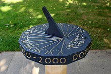 Downing College, Cambridge - Sundial.JPG