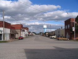 Downtown Commerce, looking eastward down Main Street