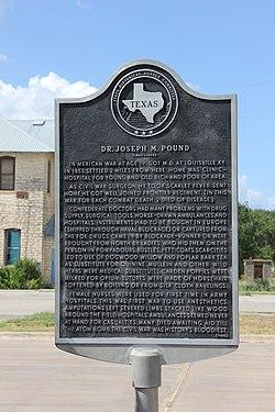 Photo of Joseph M. Pound black plaque