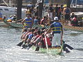 Dragon boats pulling out to race at 2008 SFIDBF 09.JPG