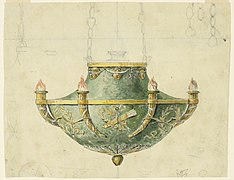 Drawing, Design for an Oil-burning Pendant Lamp, mid- 19th century (CH 18546621).jpg