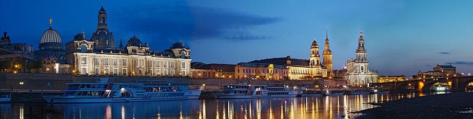 Modern Dresden by night