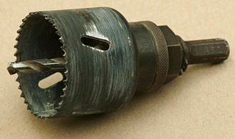 Hole saw - Image: Drill arbor holesaw 2