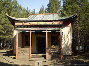 Buddhism in Buryatia - The Devajin Dugan at the Tamchinsky datsan. Exhibit at the Ethnographic Museum of the Peoples of Transbaikalia.