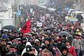 Duke protestuar në Prishtinë.JPG