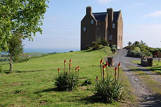 Dunduff Castle castle in South Ayrshire, Scotland, UK