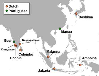 Dutch Empire Map