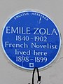 EMILE ZOLA 1840-1902 French Novelist lived here 1898-1899.jpg