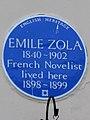 EMILE ZOLA 1840-1902 French Novelist lived here 1898-1899.jpg