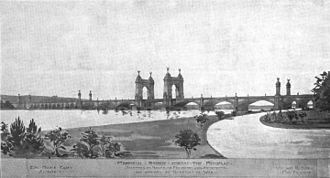 Arlington Memorial Bridge - A 1901 design for the memorial bridge by Edward P. Casey and William H. Burr, accepted by the Secretary of War but never constructed.
