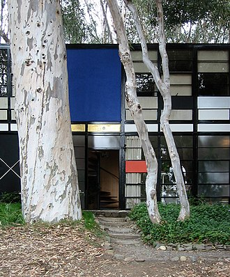 Eames House - The entry door to the Eames house