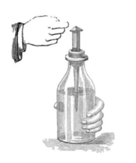 "Leyden jar device that ""stores"" static electricity"