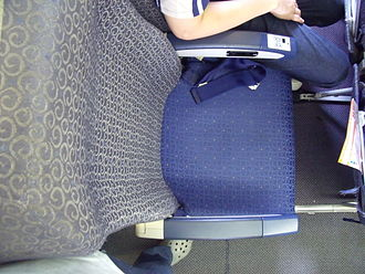Economy class - An economy seat on an aircraft.