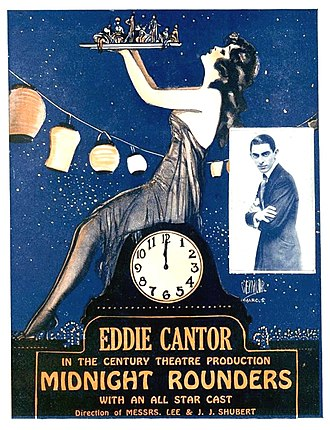 Eddie Cantor - Flyer for Midnight Rounders