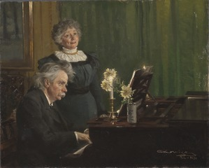 Edvard Grieg accompanying his Wife