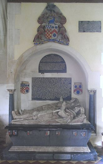 John Chichester (died 1569) - Monument in Eggesford Church of Edward Chichester, 1st Viscount Chichester of Carickfergus (1568–1648) and his wife Anne Copleston (1588–1616)
