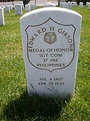 Edward H. Gibson headstone front.JPG