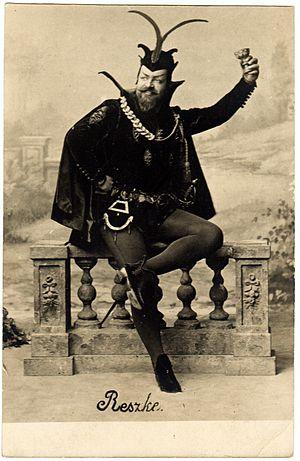 Édouard de Reszke - Édouard de Reszke as Mefistofeles in Gounod's opera Faust