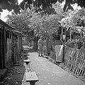 Een militair in een verlaten kampong op Java Een militair in een verlat…, Bestanddeelnr 255-8238.jpg