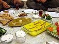 Eftar dinner set, Maghreb, Tehran, Iran, 10-21-2005.jpg
