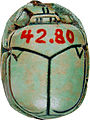 Egyptian - Scarab with the Throne Name of Amenophis III - Walters 4280 - Back.jpg