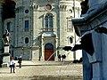Einsiedeln. Vor dem Kloster..JPG