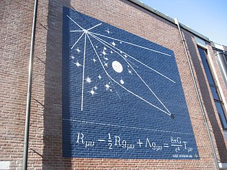 Einstein field equations - EFE on a wall in Leiden
