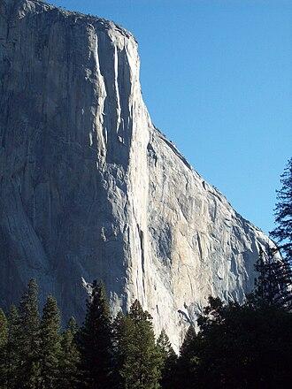 Warren Harding (climber) - Image: El Capitan Nose Route, Yosemite Valley, California