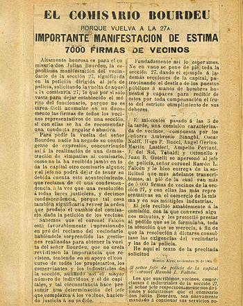 El Comisario Bourdeu - Porque vuelva a la 27a.-Nov.1906-%281%29