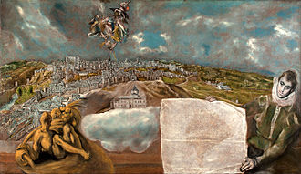 History of Toledo, Spain - View of Toledo by resident El Greco c. 1608.