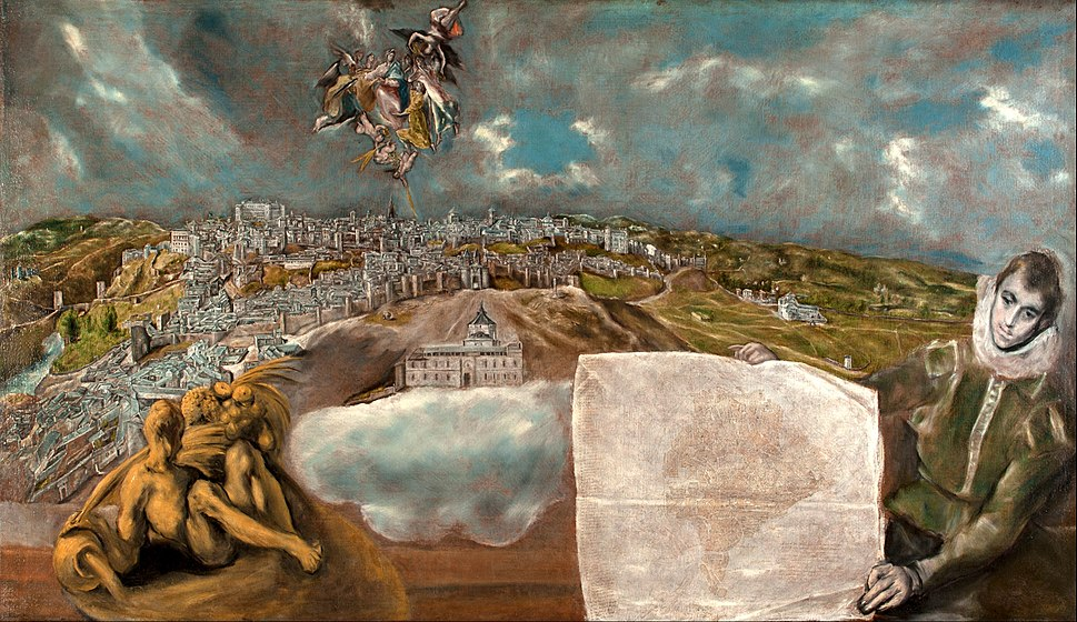 El Greco - View and Plan of Toledo - Google Art Project