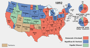 The U.S. presidential election of 1892