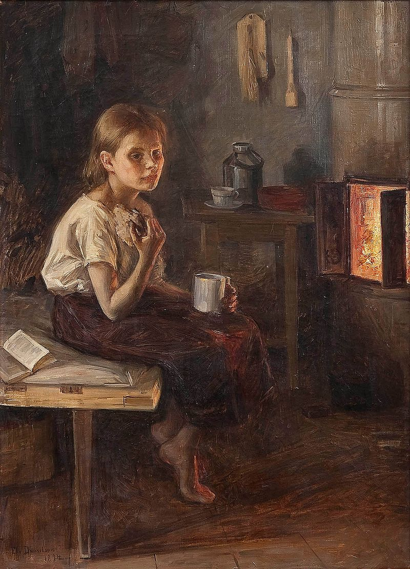 Элин Дэниэлсон-Гамбоги - Девушка у печи (1894) .jpg