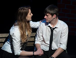 Aberystwyth University Students' Union - Elli Bruce and Alexander McDonald-Smith in Curtain Call's Our House