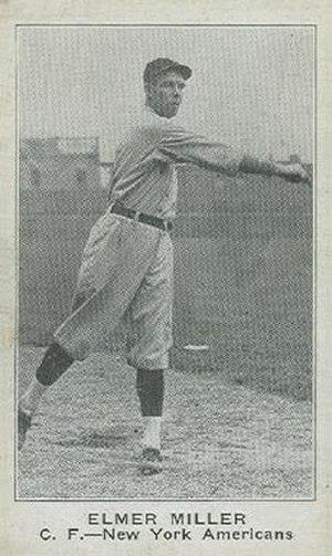 Elmer Miller (outfielder) - Image: Elmer Miller (outfielder) baseball card