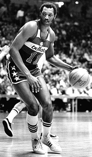 Washington Wizards - During his nine seasons with the Bullets, Elvin Hayes averaged 21.3 points per game and 12.7 rebounds per game. He led the NBA in rebounding in the 1973–74 season with an average of 18.1 rebounds per game.