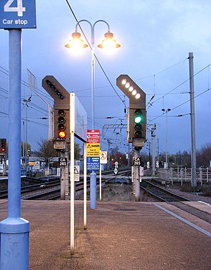 Ely railway station - Ely railway station signals