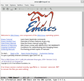 L'interface graphique de GNU Emacs