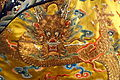 Emperor's 12-sign semiformal dragon robe, view 3, China, 18th century, silk, gold thread, embroidery - Royal Ontario Museum - DSC04470.JPG