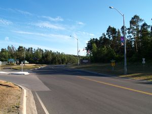 Ontario Highway 90 - Highway 90 ended at the entrance to CFB Borden, for which it serves as the primary connection to Highway 400