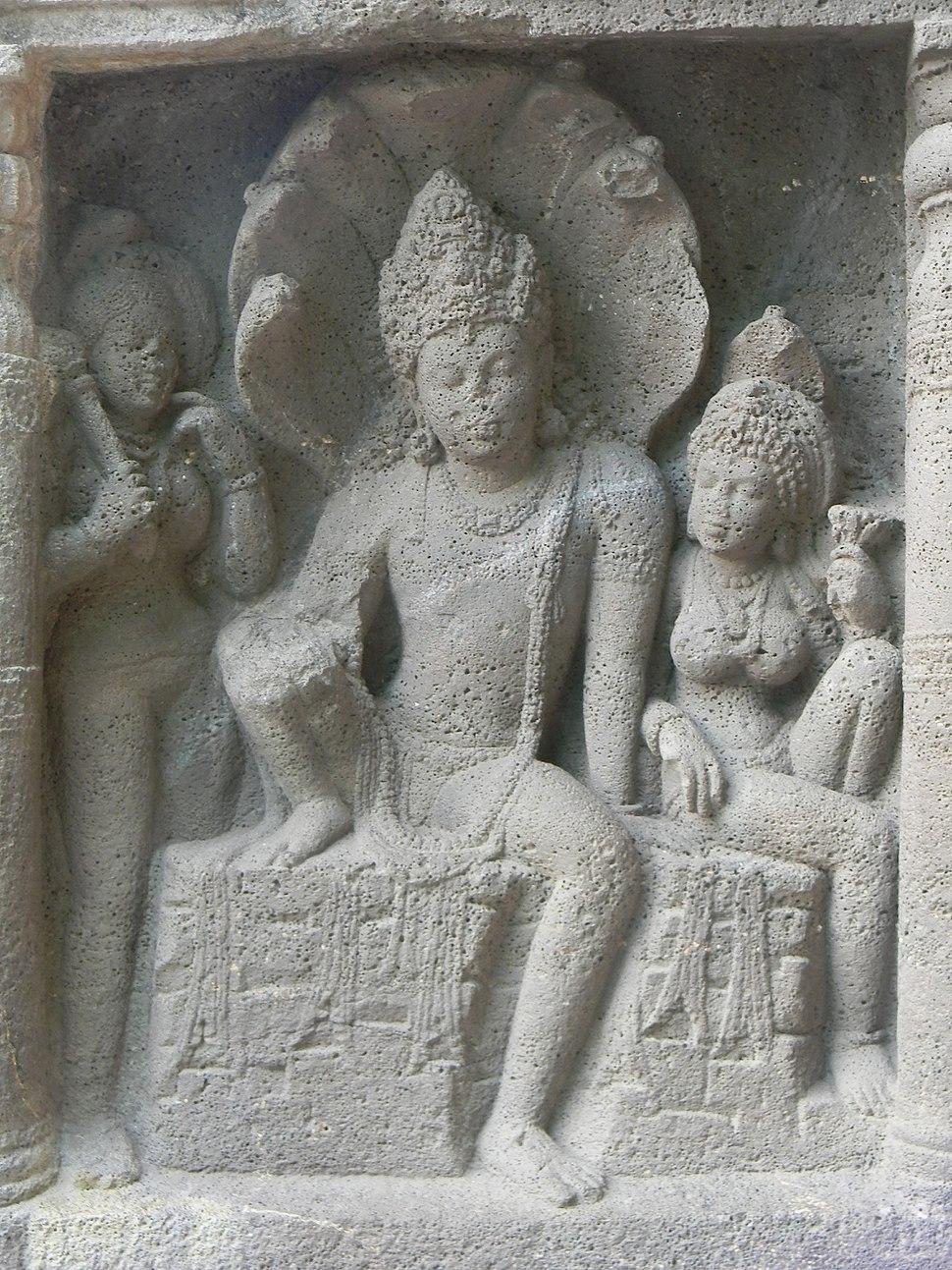 Engravings in pathway of Ajanta
