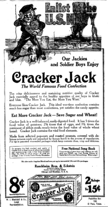 picture relating to Jack in the Box Printable Application titled Cracker Jack - Wikipedia