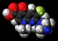 Enoxacin molecule spacefill.png