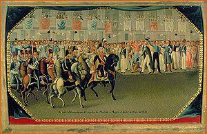 Agustín de Iturbide - Iturbide's triumphal entrance to Mexico City