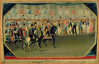 Agustín de Iturbide - Iturbide's triumphal entrance to Mexico City