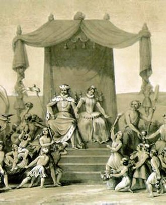 Duchess Anna of Prussia - An allegory of the union of the lands united under Brandenburg through the inheritance rights of Anna of Prussia.