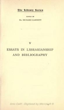 Essays in librarianship and bibliography.djvu