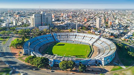 Estadio Centenario, the location of the first World Cup final in 1930 in Montevideo, Uruguay Estadio Centenario (vista aerea).jpg